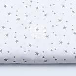 "Отрез ткани ""Микро звёздочки"" серые на белом №1645а, фото 2"