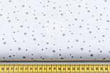 "Отрез ткани ""Микро звёздочки"" серые на белом №1645а, фото 3"