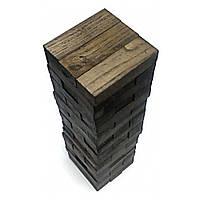 Настольная игра Дженга черная 54 бруска Крутиголовка Дерево krut0284, КОД: 119766