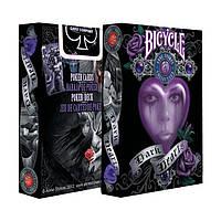 Карты для игры в покер USPCC Bicycle Dark Hearts krut0643, КОД: 258484