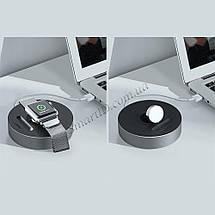 Док станция Ugreen LP119 подставка для зарядки/держатель для зарядки Apple Watch (Черный), фото 3