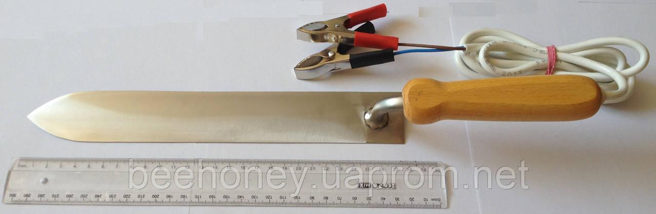 Нож пасечный с электронагревом 280 мм. Нержавеющая сталь 12 В