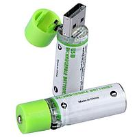 Перезаряжаемые USB батарейки АА 1,2В 1450 мАч 2шт
