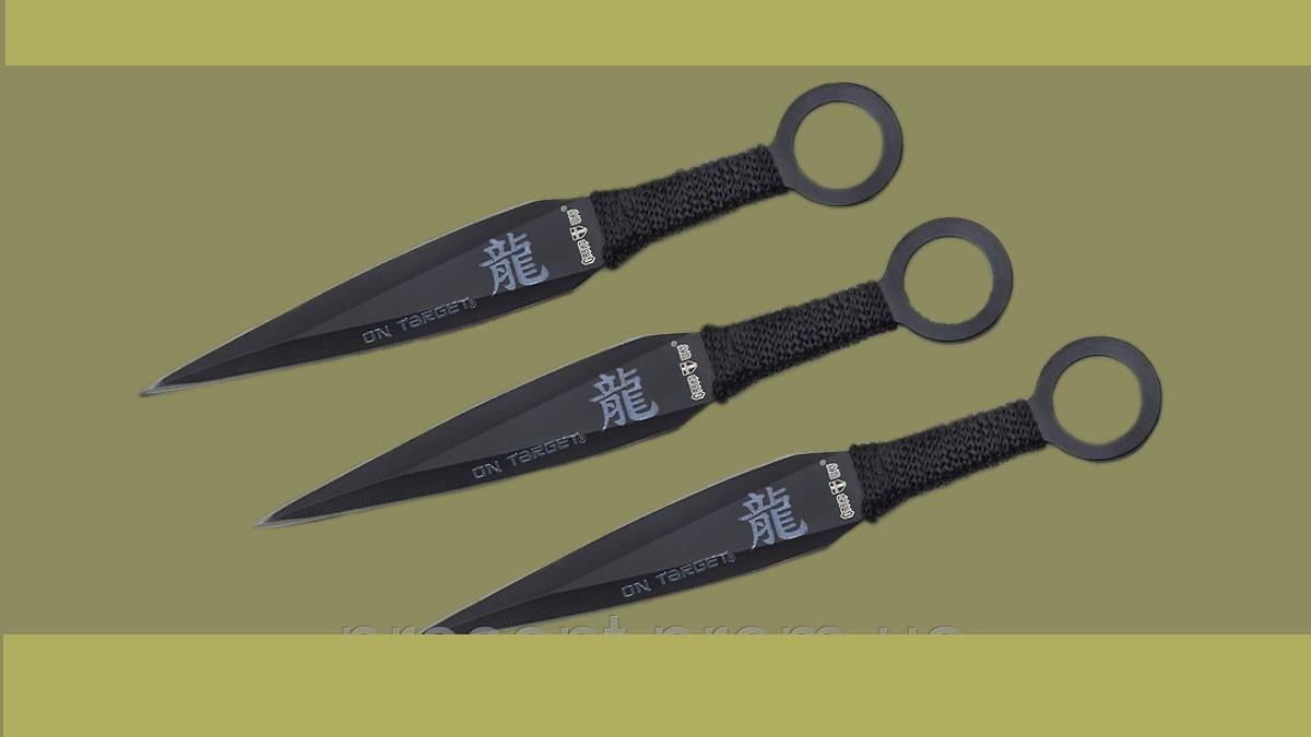 """Ножи метательные """" Меткий самурай """". Набор 3 шт. в чехле., фото 1"""