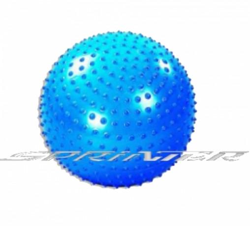 Мяч для фитнеса, с массажными шипами. d - 75 см синий