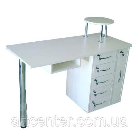Стол для маникюра, маникюрный стол с ящиками и полкой под лаки