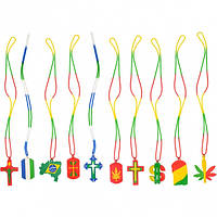 Цепочка- шнурок на шею силикон   БСУ