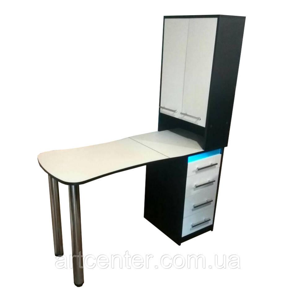 Стол маникюрный  с УФ лампой и ящиками, стол маникюрный