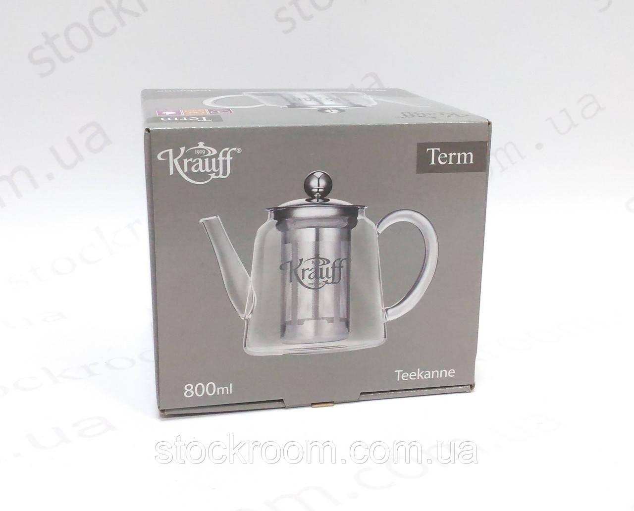 Чайник-заварник Krauff 26-177-032 стеклянный 800 мл