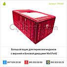 Большой ящик для перевозки индюков с верхней и боковой дверцами 96х57х42, фото 2
