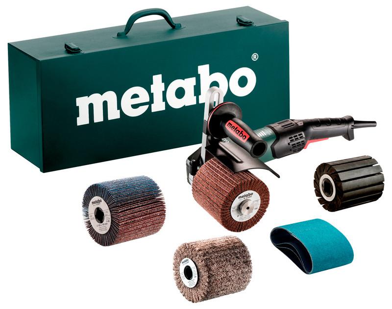 Щеточная шлифовальная машина Metabo SE 17-200 RT Set + кейс + валик + 3 шлифдиска + 3 шлифленты (602259500)