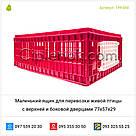 Маленький ящик для перевозки живой птицы с верхней и боковой дверцами 77х57х29, фото 6