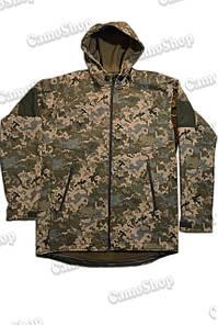 Куртка с капюшоном в пикселе ММ14 из материала Софтшелл (Soft Shell 5000H)