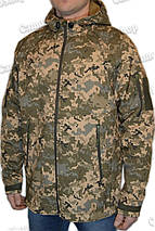 Куртка с капюшоном в пикселе ММ14 из материала Софтшелл (Soft Shell 5000H), фото 2