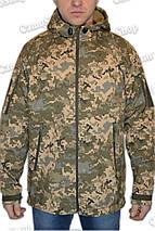 Куртка с капюшоном в пикселе ММ14 из материала Софтшелл (Soft Shell 5000H), фото 3