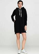 Платье женское, с капюшоном черное, петля