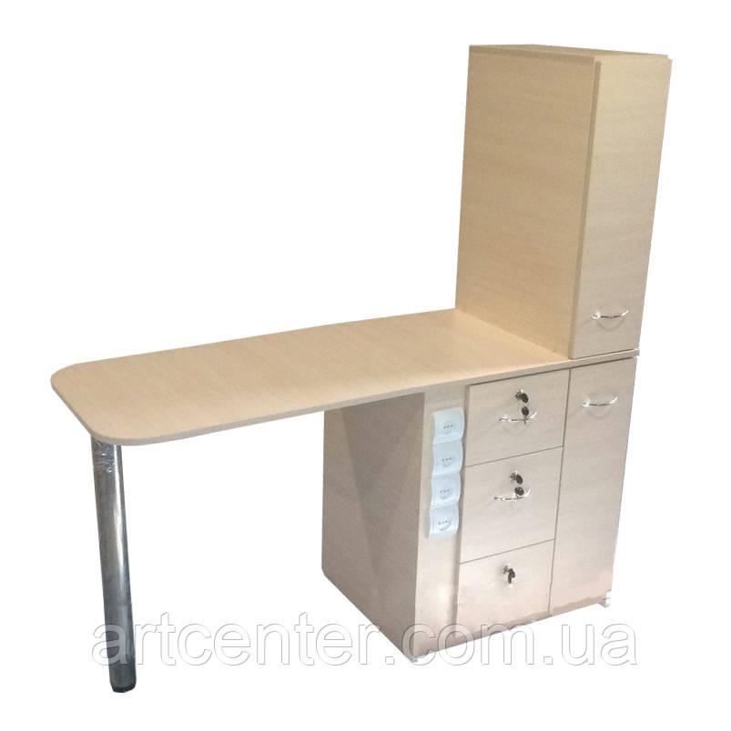 """Маникюрный стол профессиональный, стол для маникюра с 2 ящиками """"карго"""""""