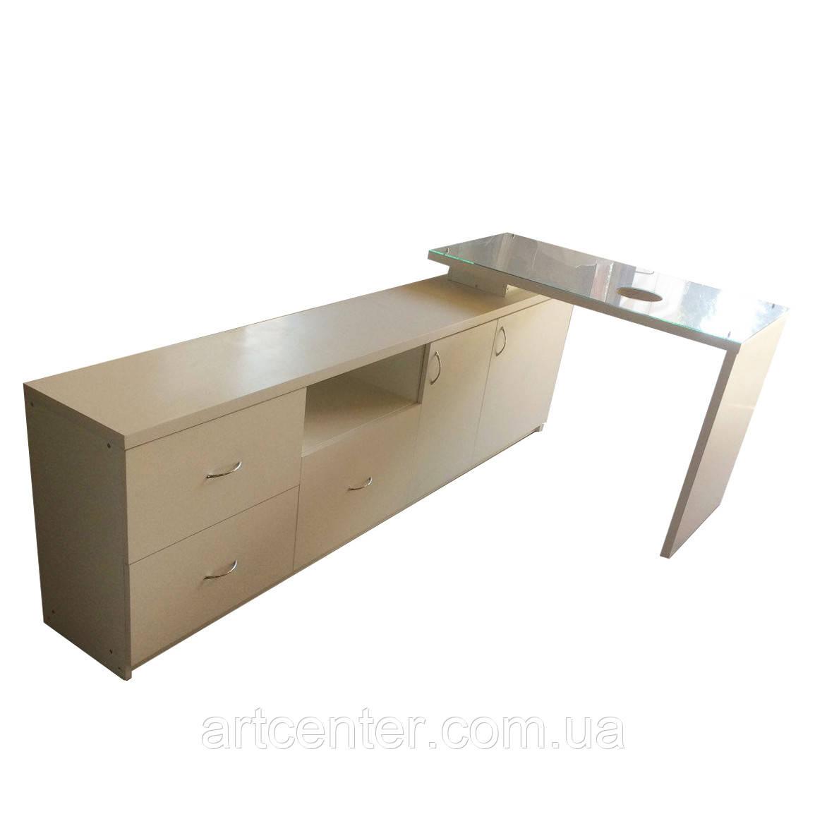 Стол для маникюра с нишей, маникюрный стол
