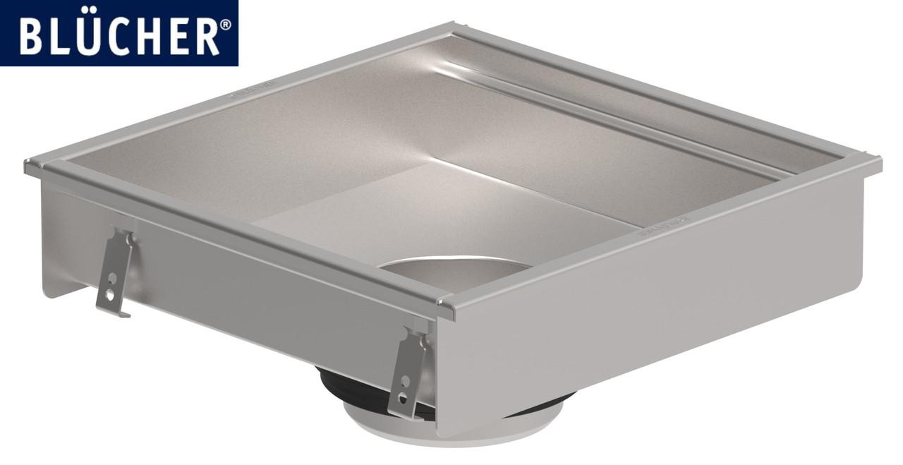Кухонний канал BLUCHER, нержавіюча сталь, 400x400 мм DN110, арт. 660FH004-11