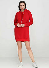 Платье женское, с капюшоном петля, красное