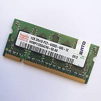 Оперативная память для ноутбука Hynix SODIMM DDR2 1Gb 800MHz 6400s CL6 (HYMP112S64CR6-S6 AB) Б/У, фото 1