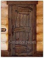 Деревянные двери с ковкой. Двери из дерева. Двери под старину