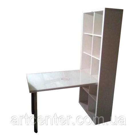 Стол для маникюра со стеллажом, маникюрный стол