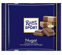 Молочный шоколад Ritter Sport Nugat с начинкой Пралине