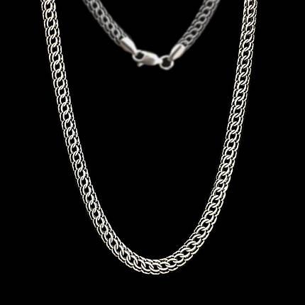 Срібний ланцюжок, 600мм, 23 грама, плетіння Пітон, чорніння, фото 2