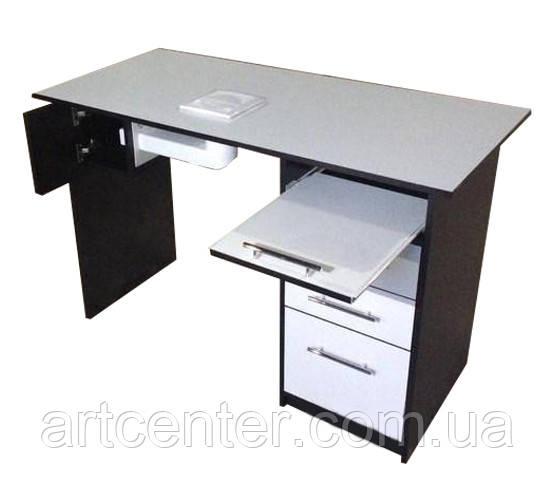 Стіл для манікюру, манікюрний стіл однотумбовий