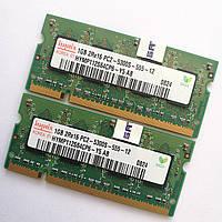 Оперативная память для ноутбука Hynix SODIMM DDR2 2Gb (1+1) 667MHz 5300s CL5 (HYMP112S64CP6-Y5 AB) Б/У, фото 1