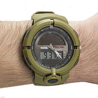 Часы спортивные Skmei 1275 Army Green, фото 2
