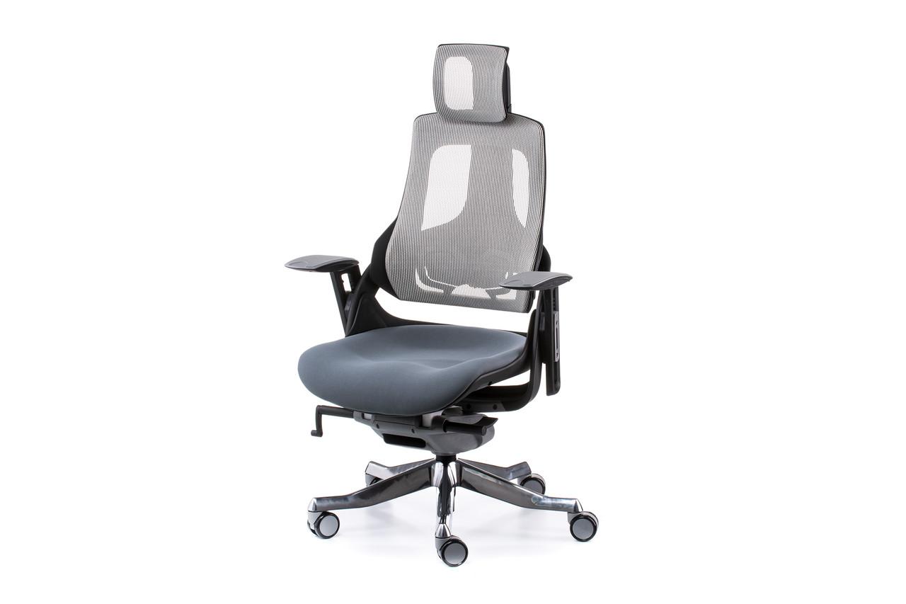 Крісло офісне Wau slatеgrey fabric, snowy nеtwork