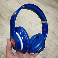 Накладные проводные наушники Stereo Headphone BS-669 для монитора синие, фото 1
