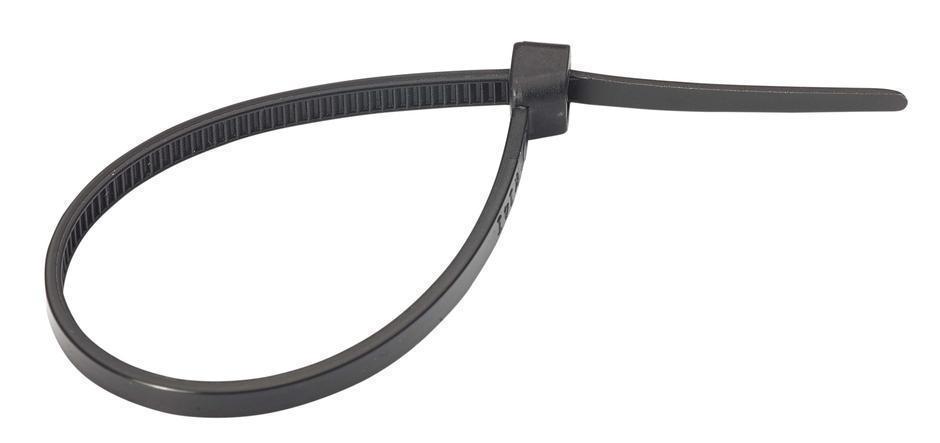Кабельная стяжка черная 4,0*370 нейлоновая (100 шт/уп)