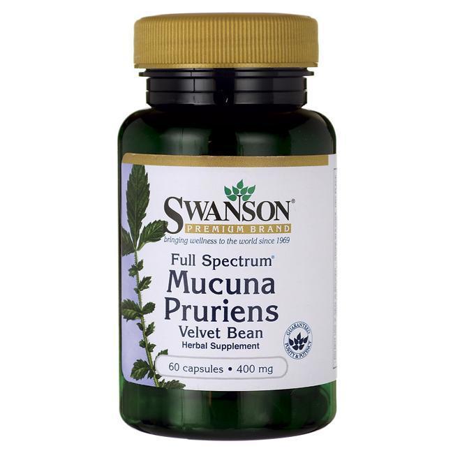 Mucuna Pruriens Мукуна пекуча Velvet bean L-dopamine 400 мг 60 капс