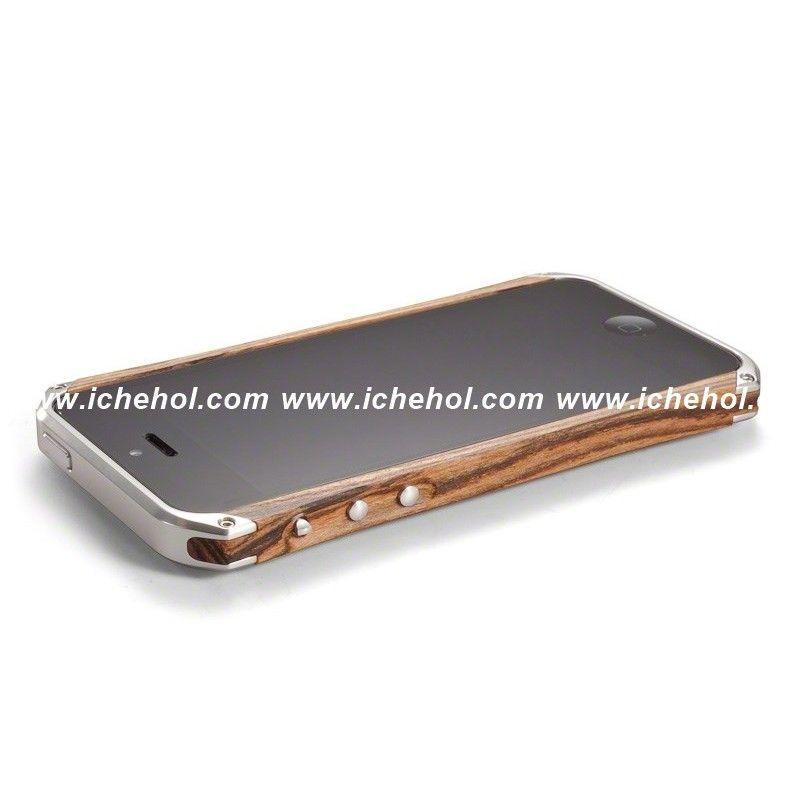 Серебристый деревянный чехол-бампер Ronin для iPhone 6/6s от Element Case