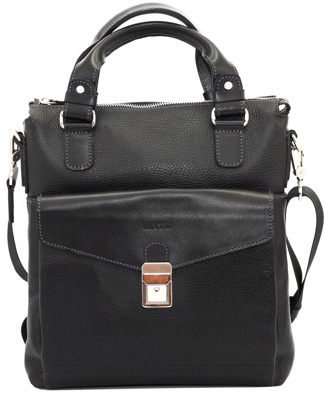 6d0b120a8e88 Мужская кожаная сумка VATTO Mk-41.3 FL8Kаz1 черная - Интернет-магазин
