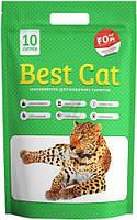 """Силикагелевый наполнитель """"Best Cat""""  Green Apple 10л (4 кг.)"""