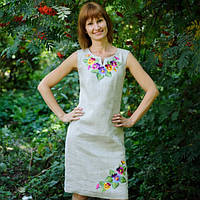 Вышитое платье Анютины глазки | Вишите плаття Братки, фото 1