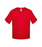 Красная мягкая футболка для ребенка Fruit of the loom