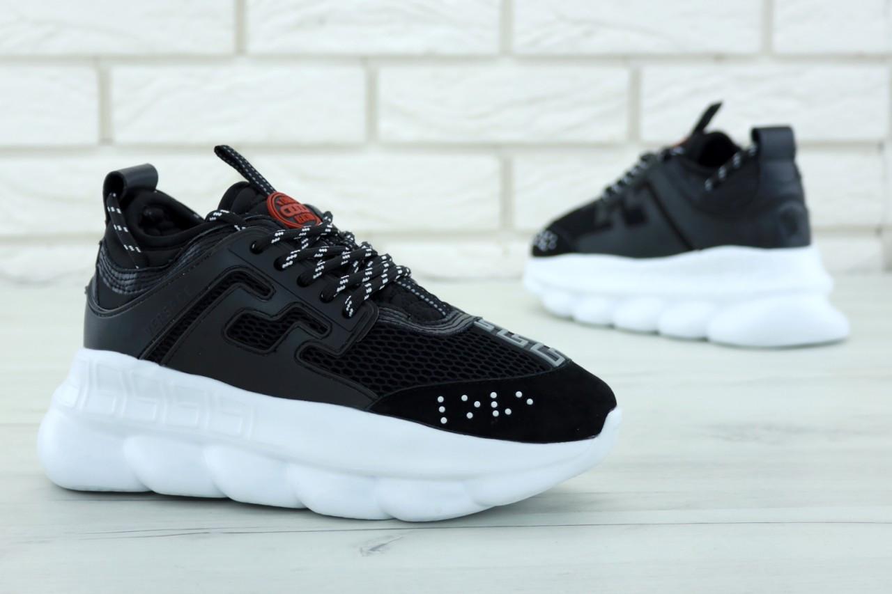 b1021d71 Купить Женские кроссовки Versace Chain Reaction Sneakers. Черные ...