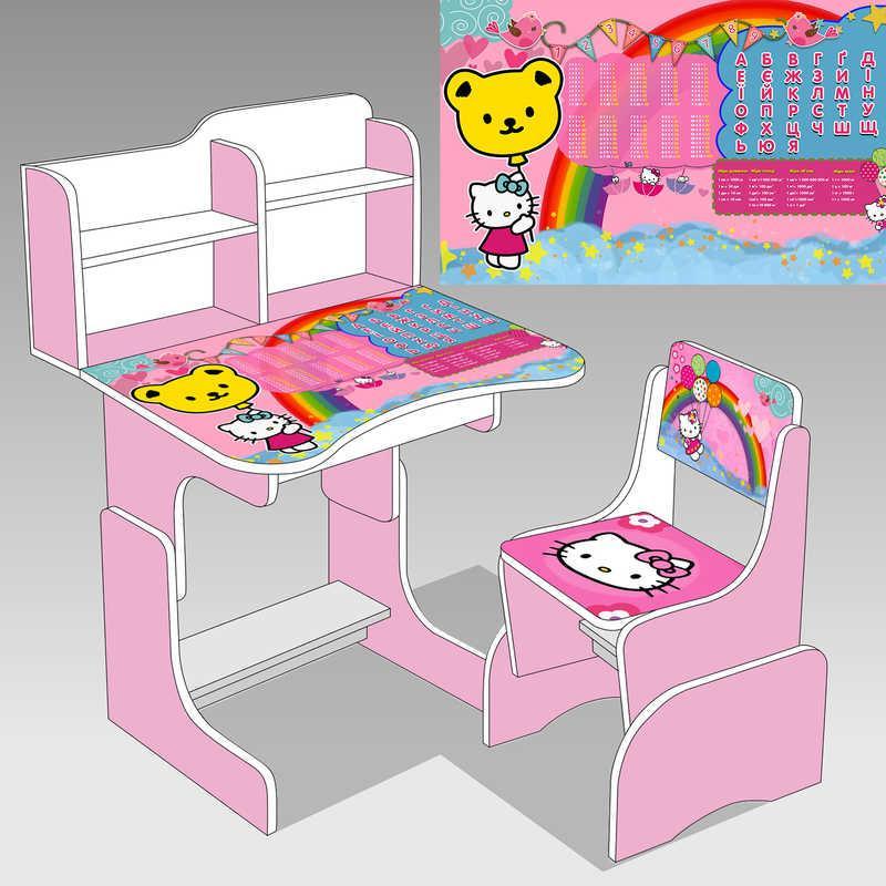 """Парта школьная """" Hello Kitty"""" ЛДСП ПШ 014"""