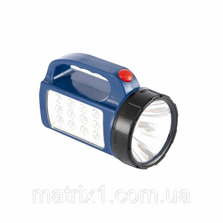Ліхтар пошуковий вологозахищений, 1+12 LED, 3хАА// STERN