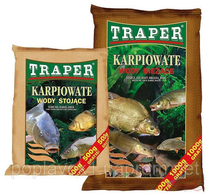 Прикормка TRAPER Karpiowate - wody stojące (Стоячая вода) 2,5 kg wody stojoce (Стоячая вода)
