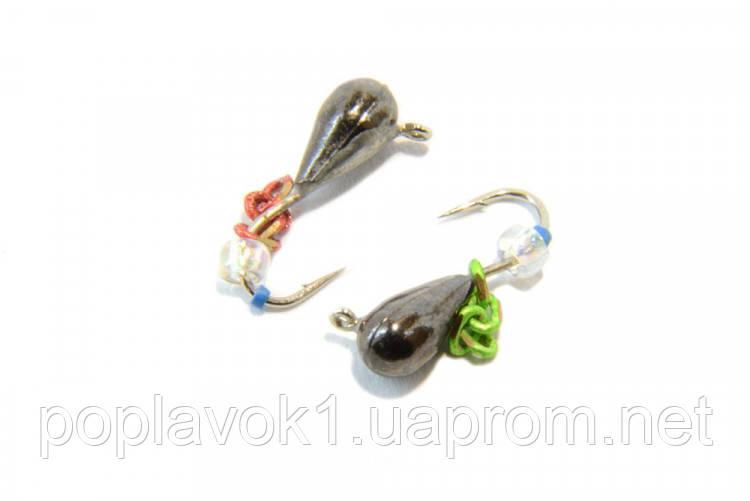 Мормышка вольфрам Капля с подвеской (никель) 3мм
