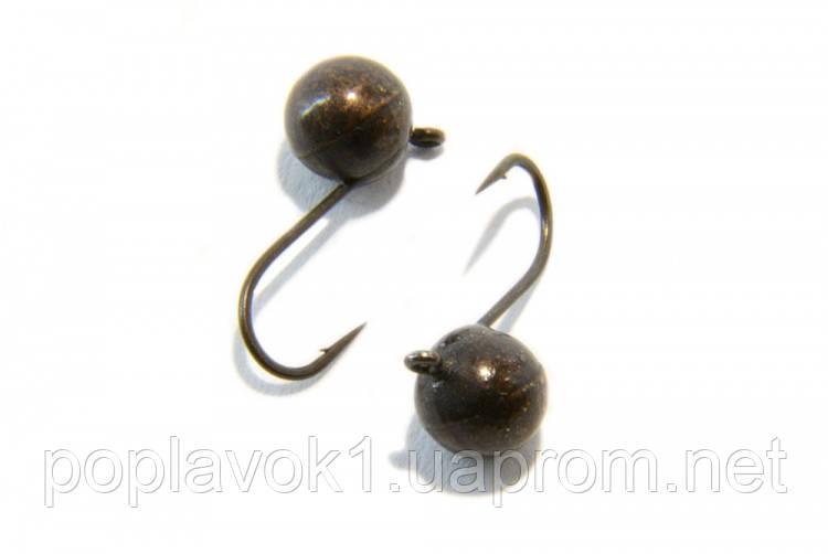 Мормышка вольфрамовая Шар с ушком (Чёрный) 5мм