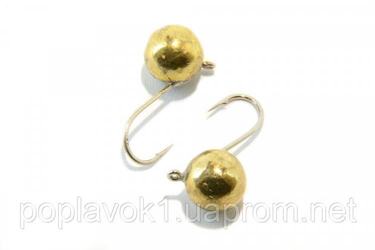 Мормышка вольфрамовая Шар с ушком (золото) 5мм