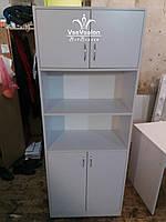 Білий шафа з відкритими комірками. Модель А189, фото 1