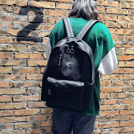 Рюкзак для молодёжи чёрный